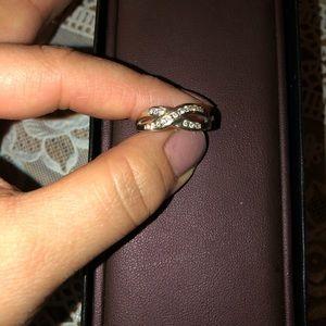 SS 1/4 crisscross ring